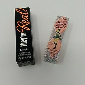 Benefit they're real mascara  & gimme brow+ 3